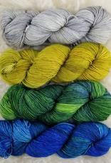 Palouse Yarn Co SET of 4 Merino Fine-  Cool Cool Summer