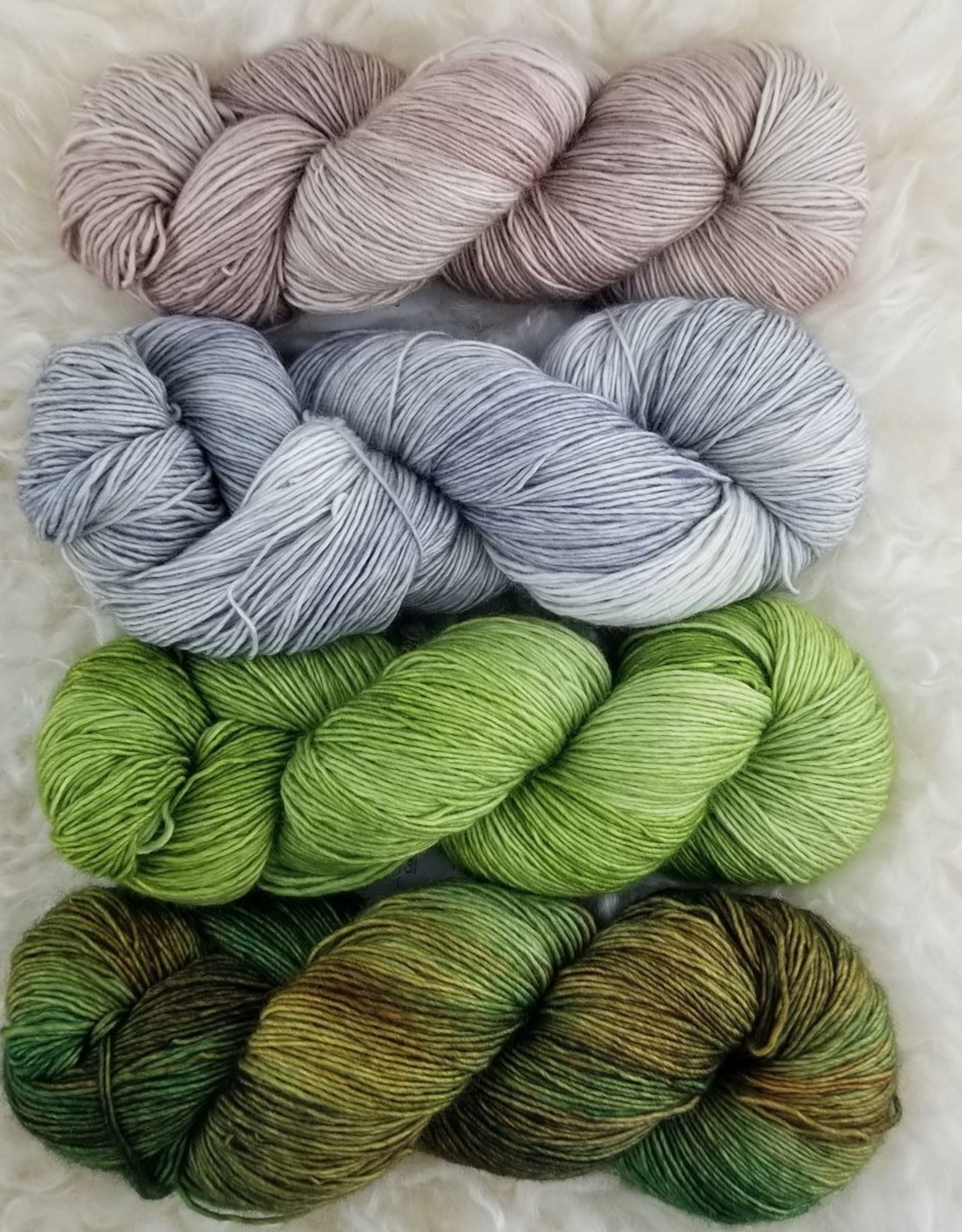 Palouse Yarn Co SET of 4 Merino Fine-  Willows In The Creek