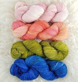 Palouse Yarn Co SET of 4 Merino Fine-  Summer Picnic