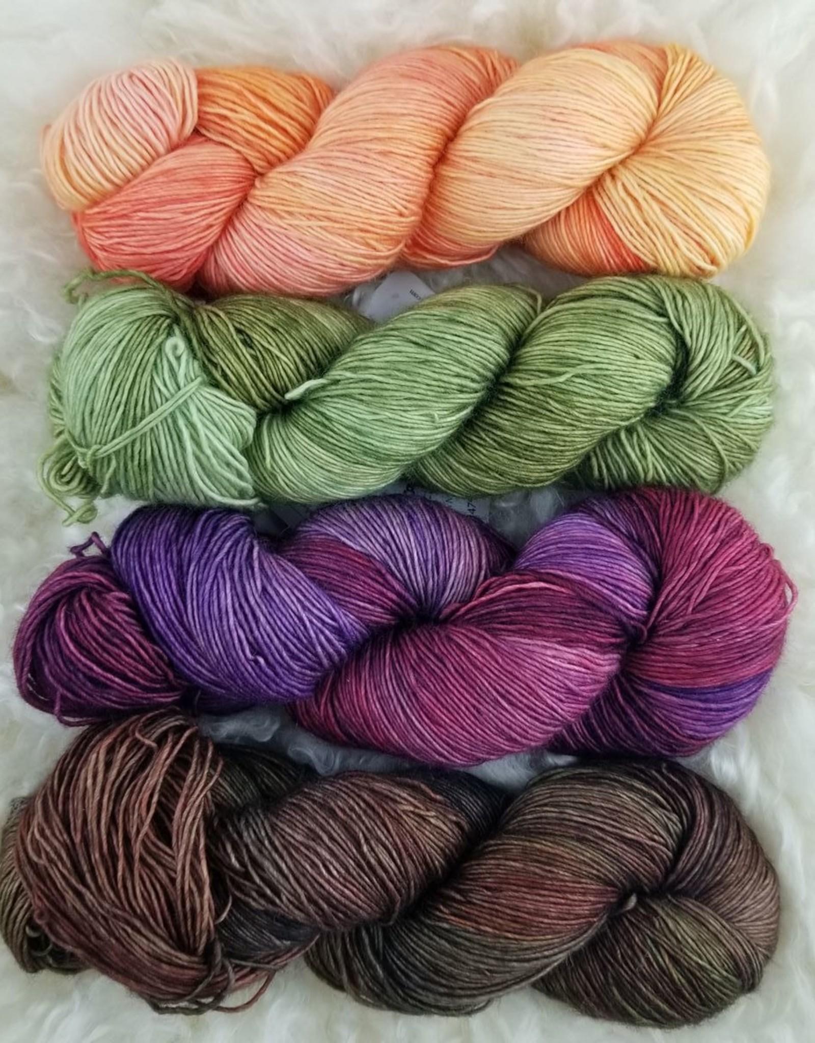 Palouse Yarn Co SET of 4 Merino Fine-  Sunset Through Pines