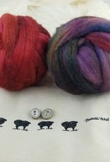 Palouse Yarn Co Spinning Set Hand Dyed 8 oz + Elk Buttons