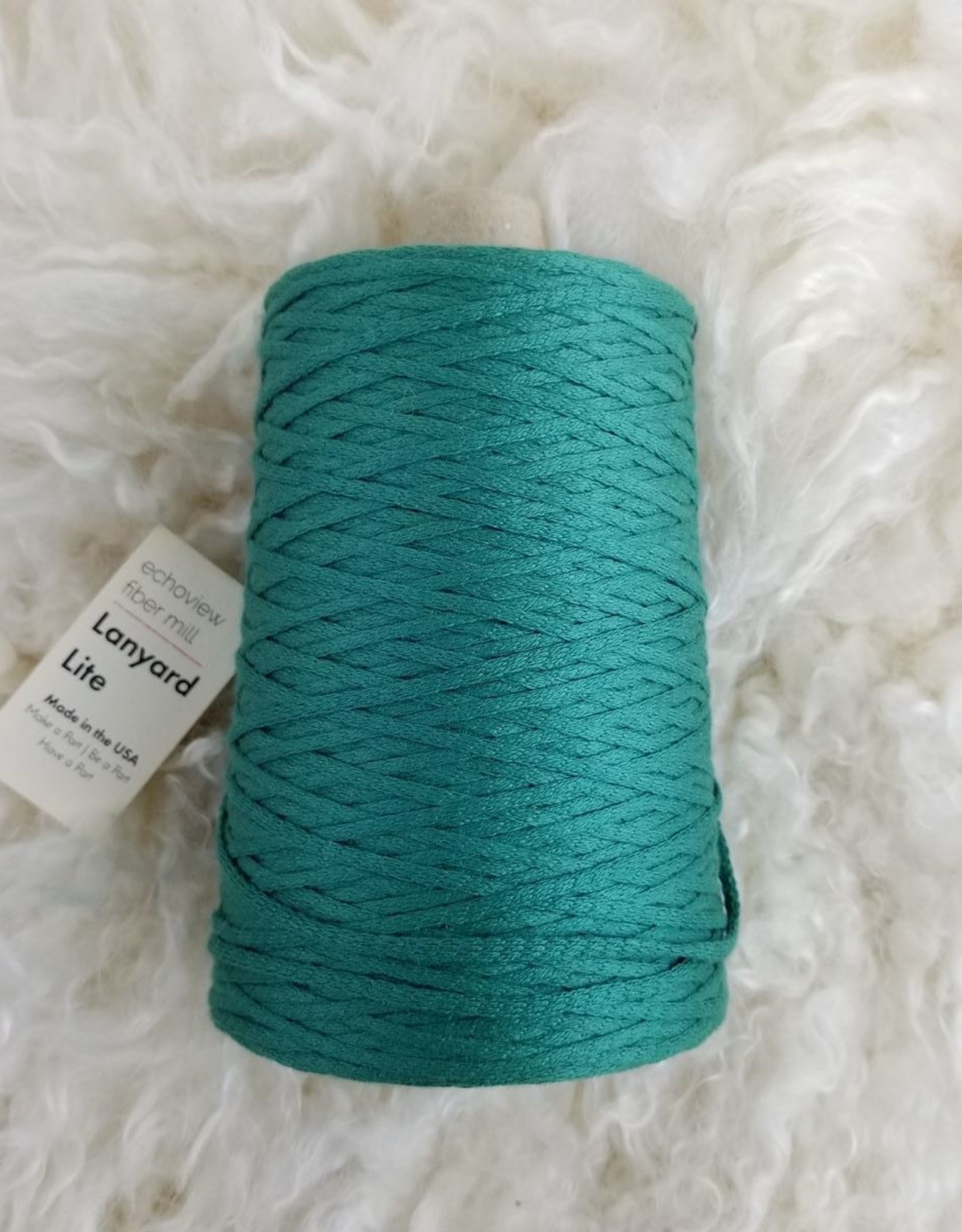 Lanyard Lite Organic Cotton 1lb malachite