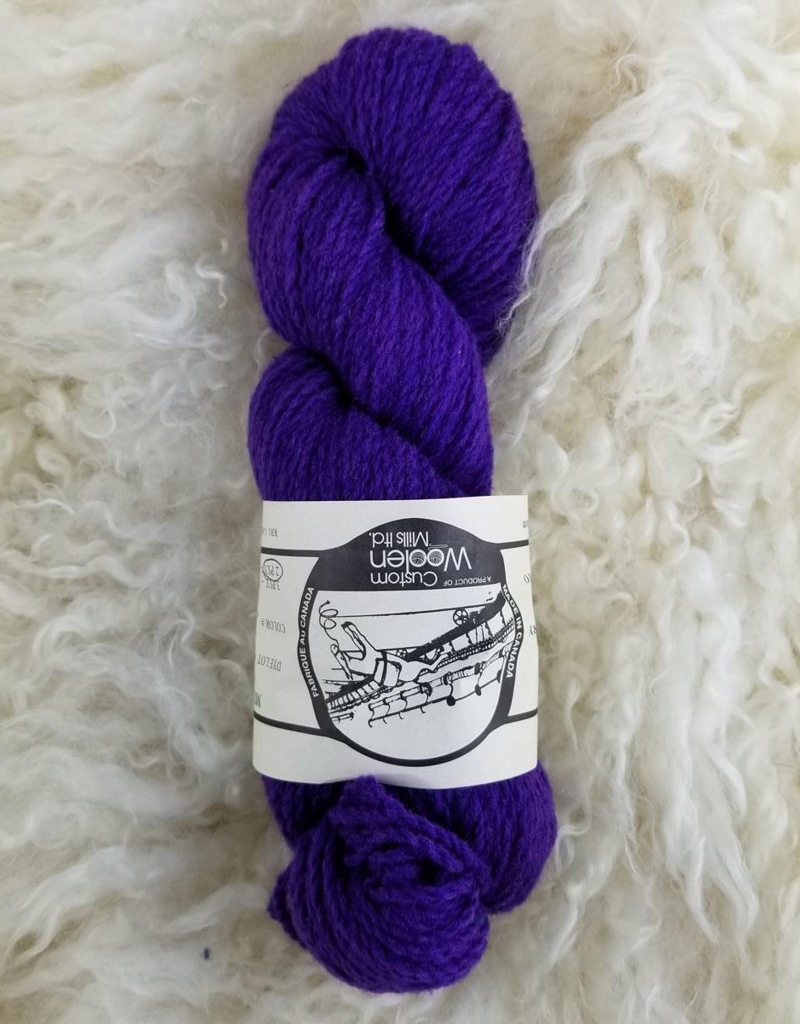 Mule Spinner 2ply 17 purple
