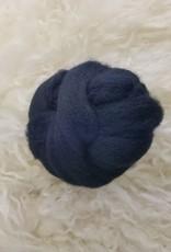 Ashford Fiber Corriedale 2oz Dyed Licorice Black combed sliver