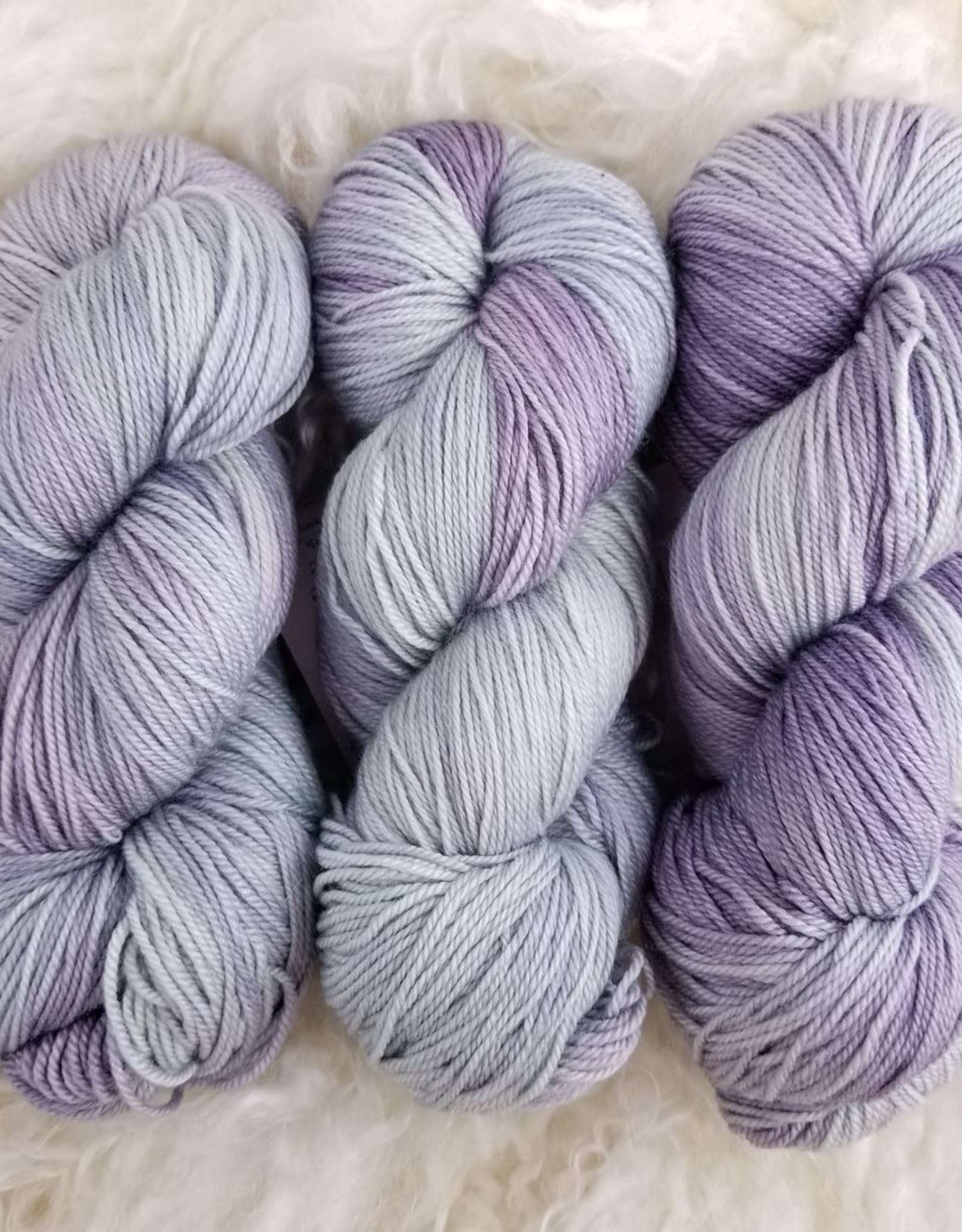 Palouse Yarn Co Cash Squeeze Lavender and Sage