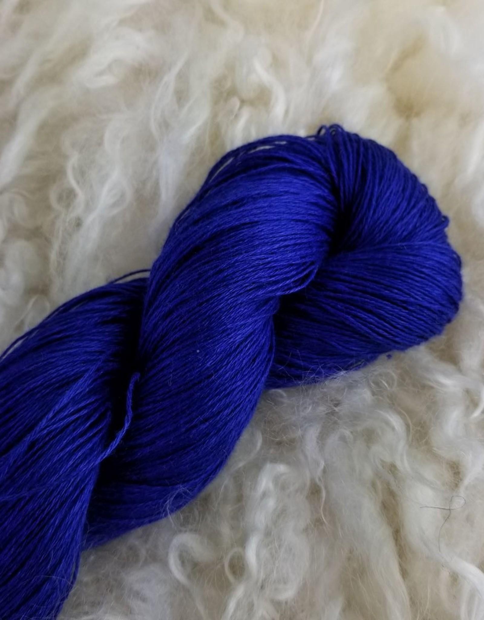Flax Lace 100g 117 Fierce Blue