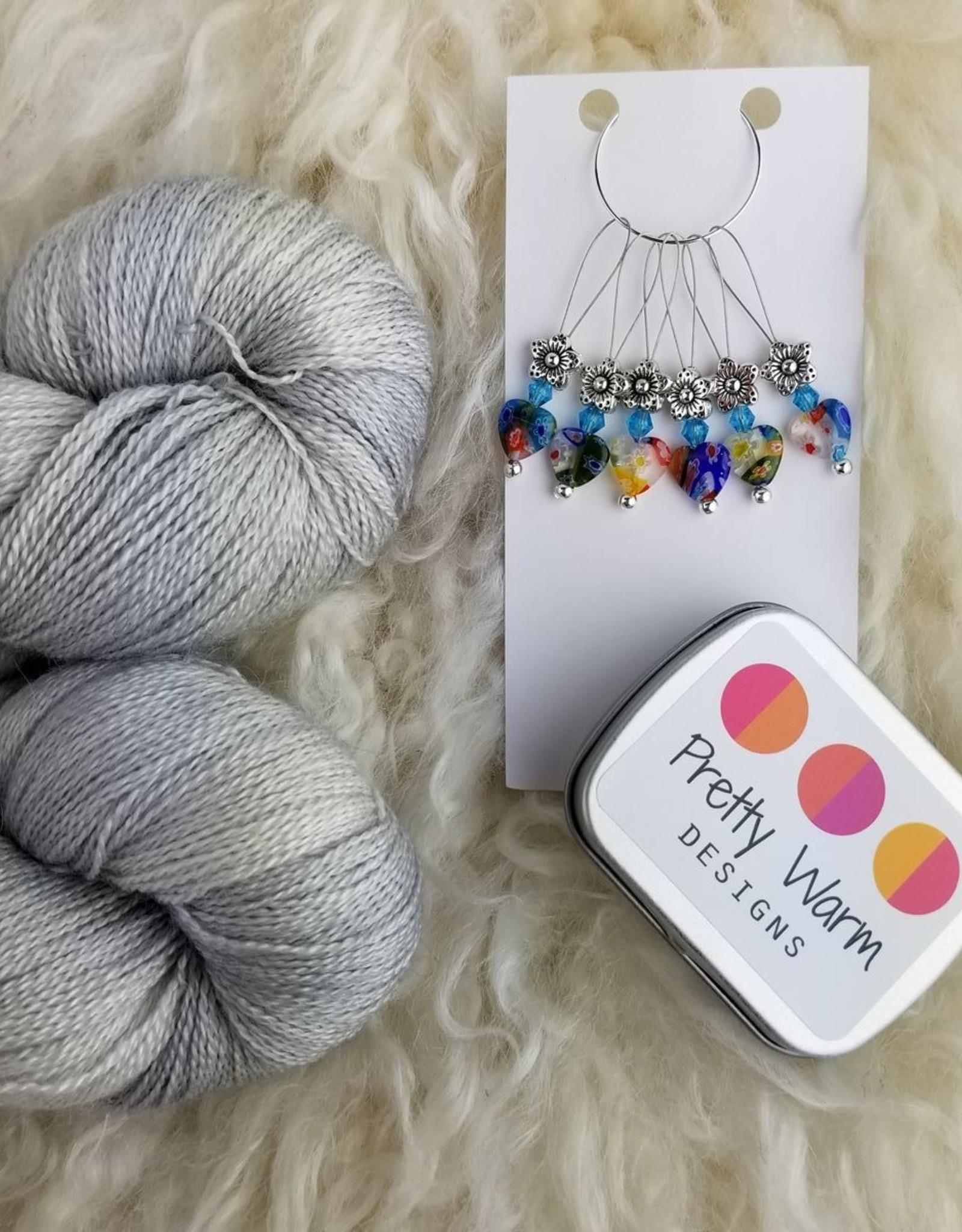 Palouse Yarn Co Lace Set SilkyAL Airstream + Hearts