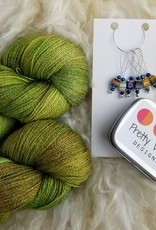 Palouse Yarn Co Lace Set SilkyAL Spring Leaves + Cubes