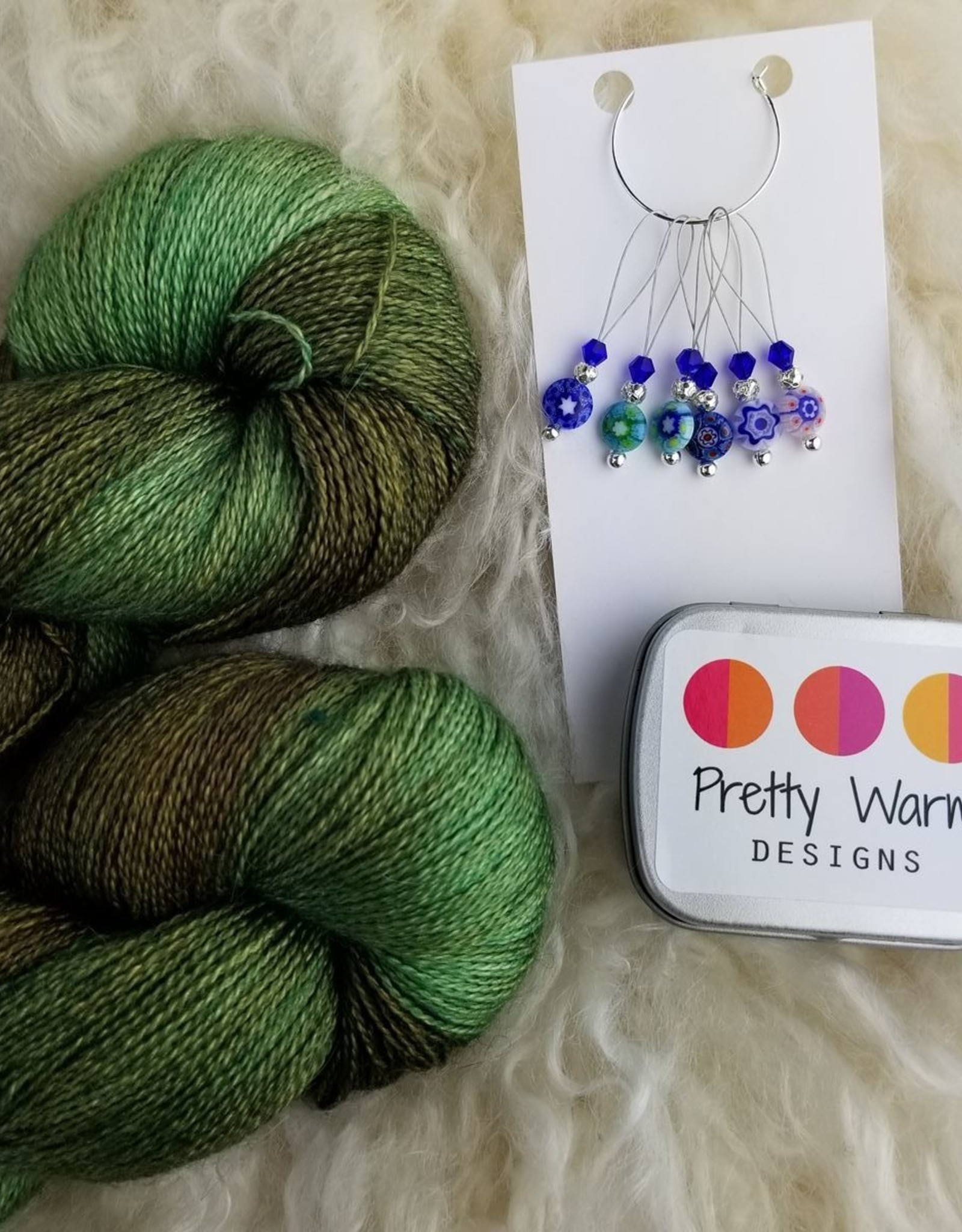 Palouse Yarn Co Lace Set SilkyAL Forest Path + Millefiori
