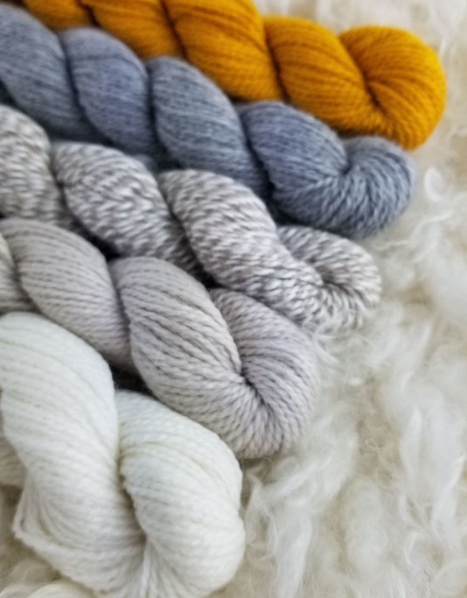Amble Sock Mini 25g white heather