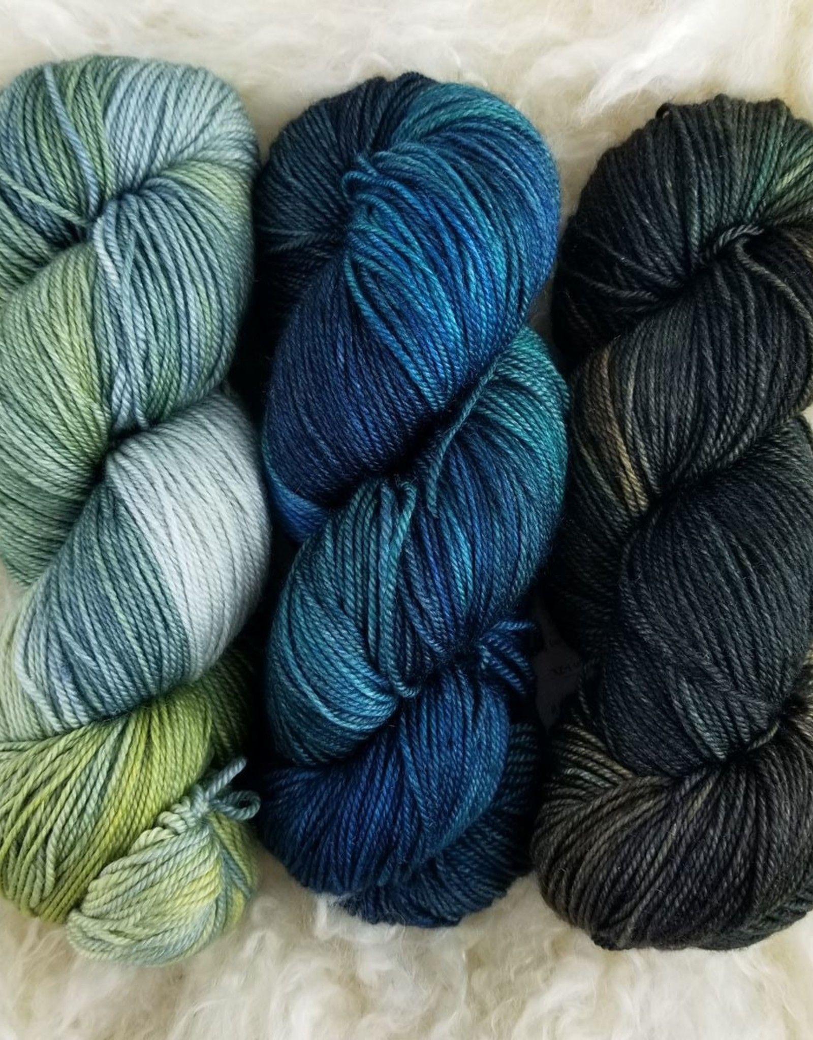 Palouse Yarn Co Squeeze Set of 3- Forest, Sky & Cool Breeze