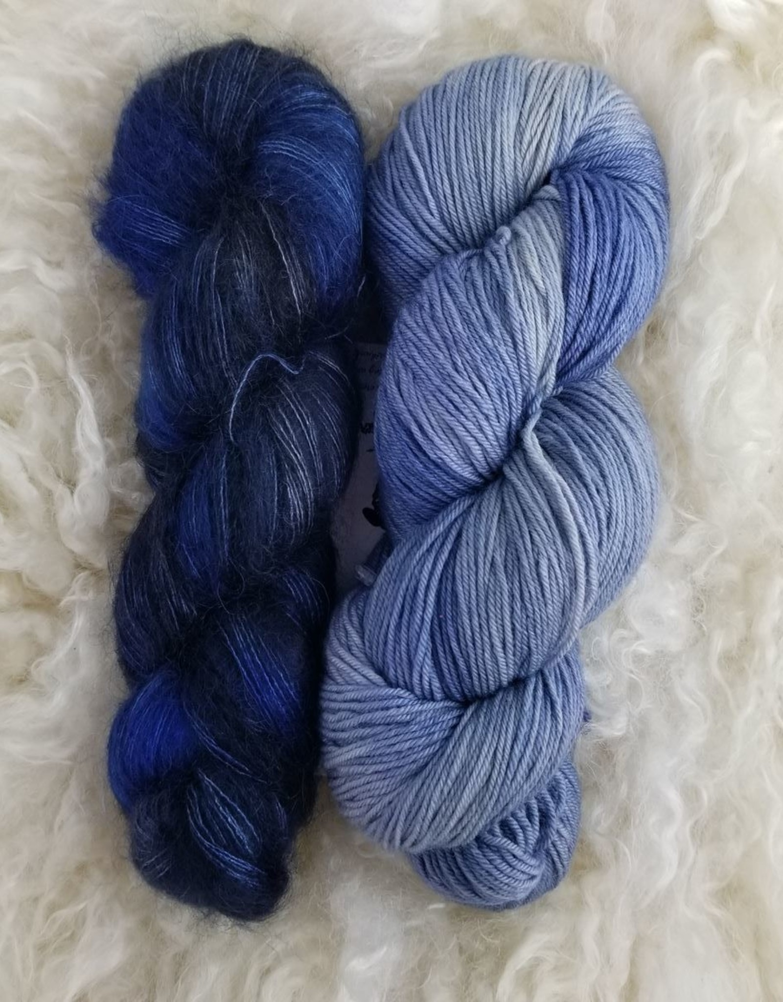 Palouse Yarn Co Mohair Pair Beautiful Blues