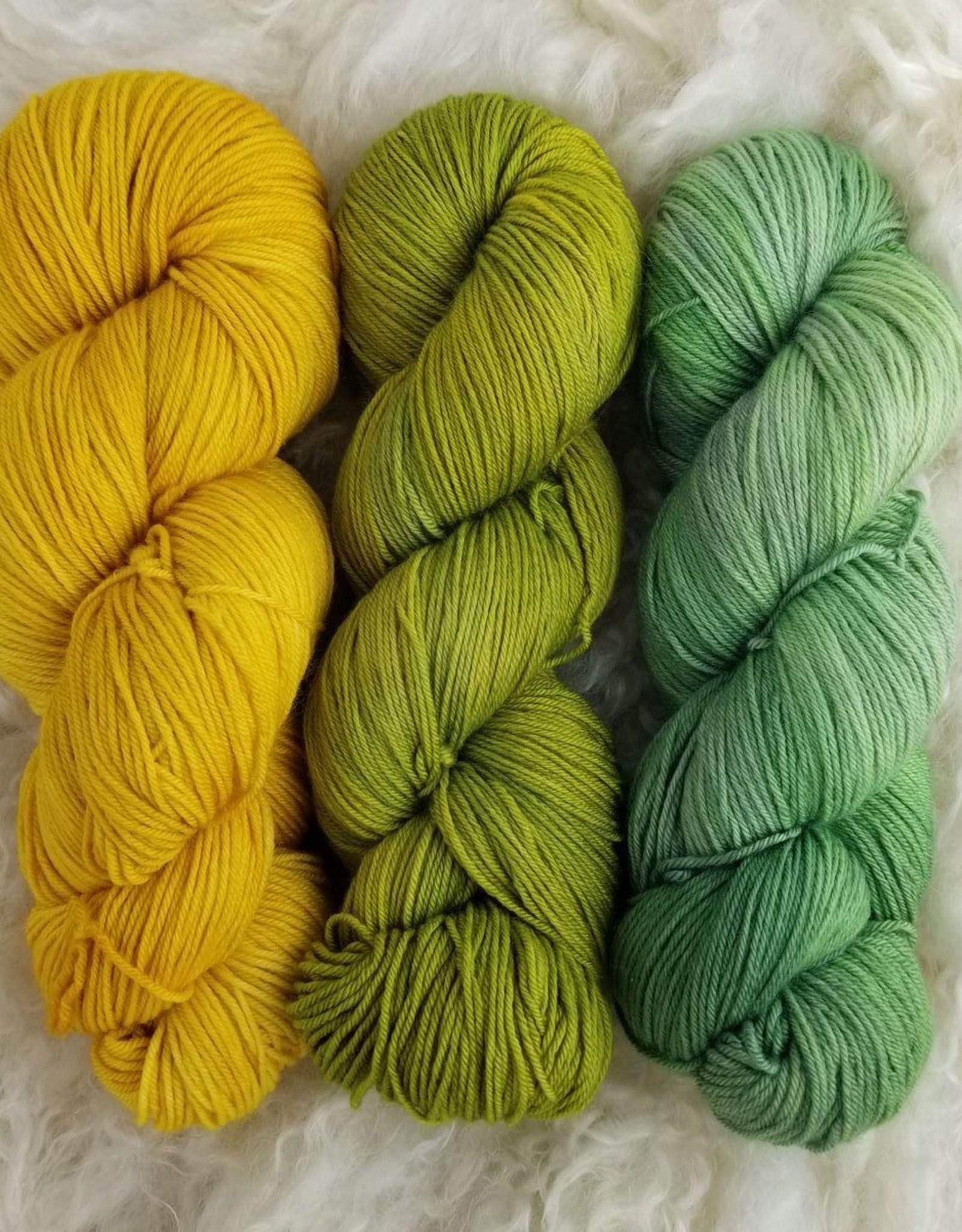 Palouse Yarn Co Sawtooth Trio Spring Greens n Daffodils
