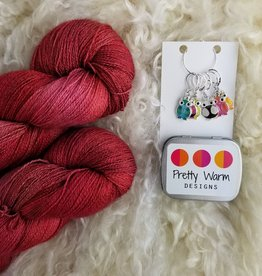 Palouse Yarn Co Lace Set SilkyAL Cinnamon Hearts + Owls