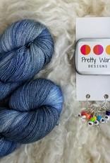 Palouse Yarn Co Lace Set SilkyAL Tuesday Blue + Numbers