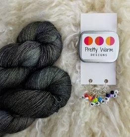 Palouse Yarn Co Lace Set SilkyAL Jet Black + numbers