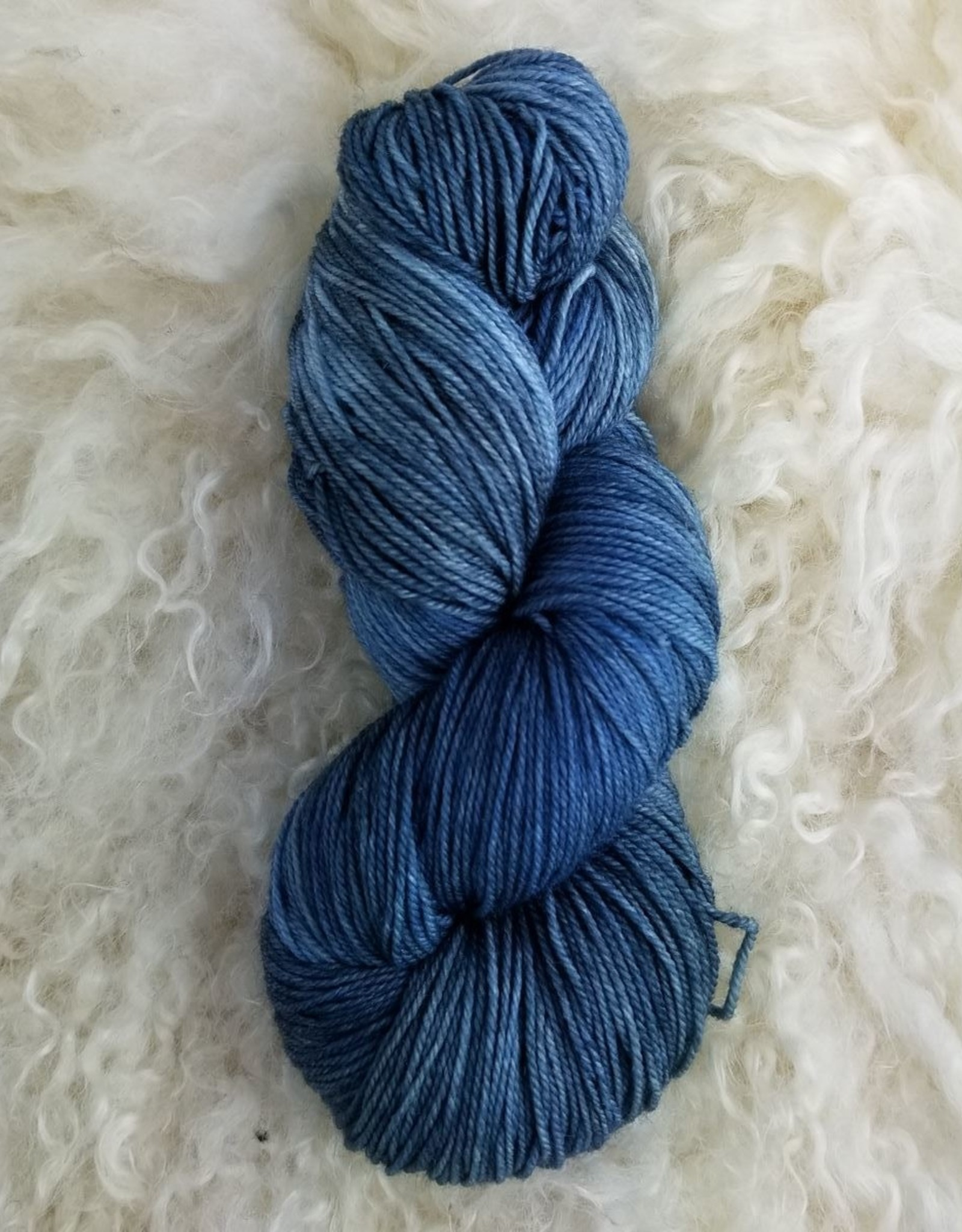 Palouse Yarn Co Organic Merino Sock Tuesday Blue
