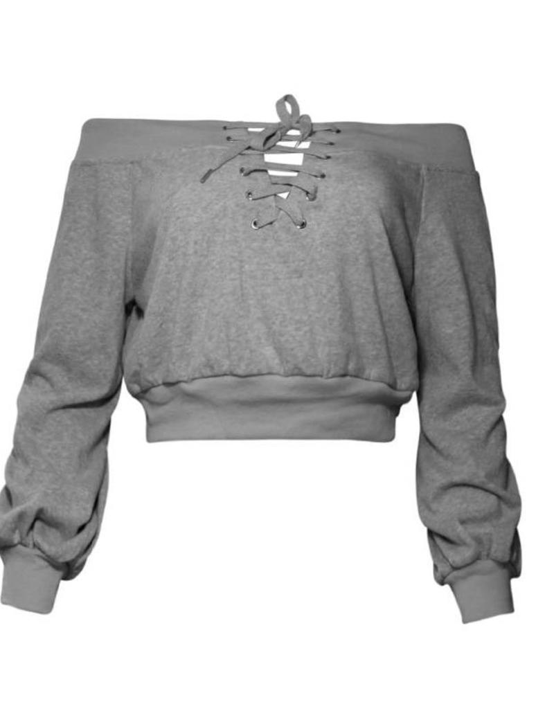 Rehab Grace Sweater Crop