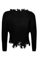 Hera Remi Distressed Crop Sweater