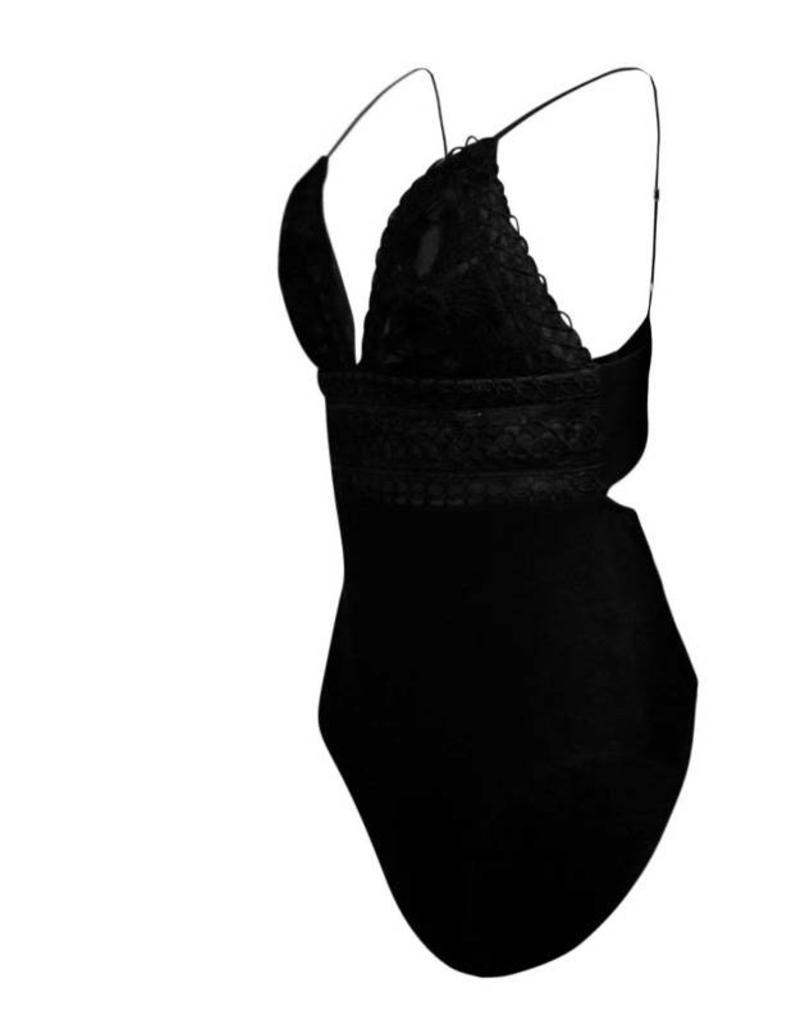selfie leslie Gracen Crochet Bodysuit