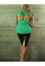 U Style Cali Button Ruffle Shirt