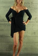 Fashion Leader Monae Wrap Dress Black