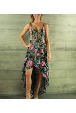 Banju Jazmin Floral Hi-Lo Dress