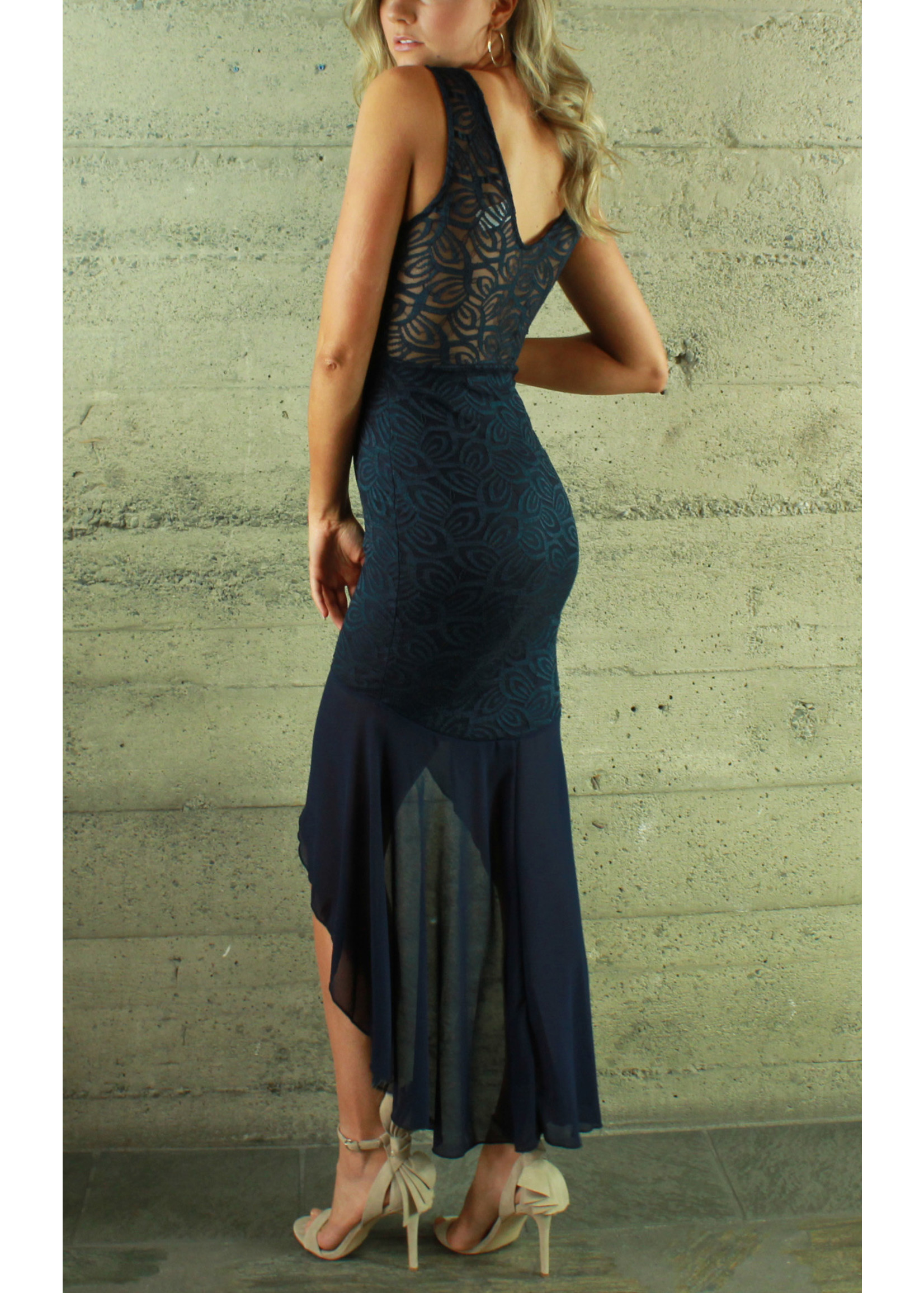 Bluebell Laura Lace Dress Navy