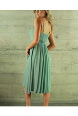 Re:Named Deanne Empire Button Dress