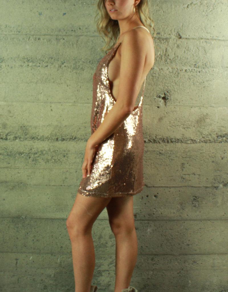 Evenuel Sasha Sequin Shift Dress