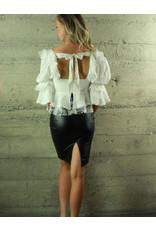 Hot & Delicious Lucia Crop Top White