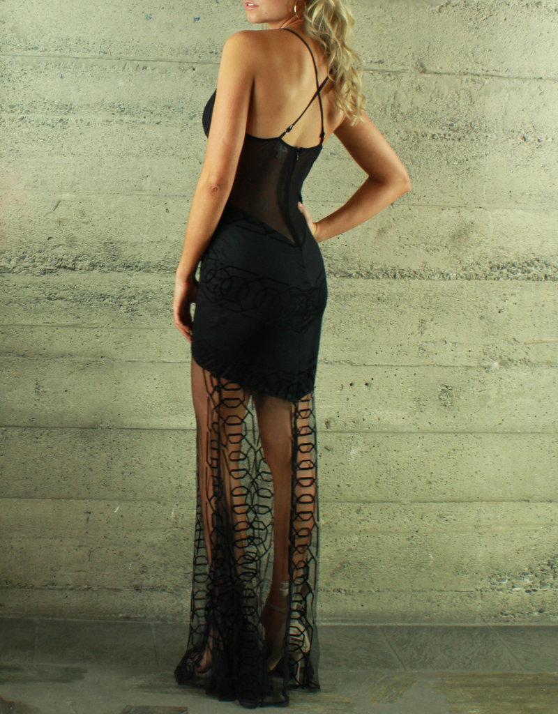 L'atiste Florence Sheer Maxi Dress
