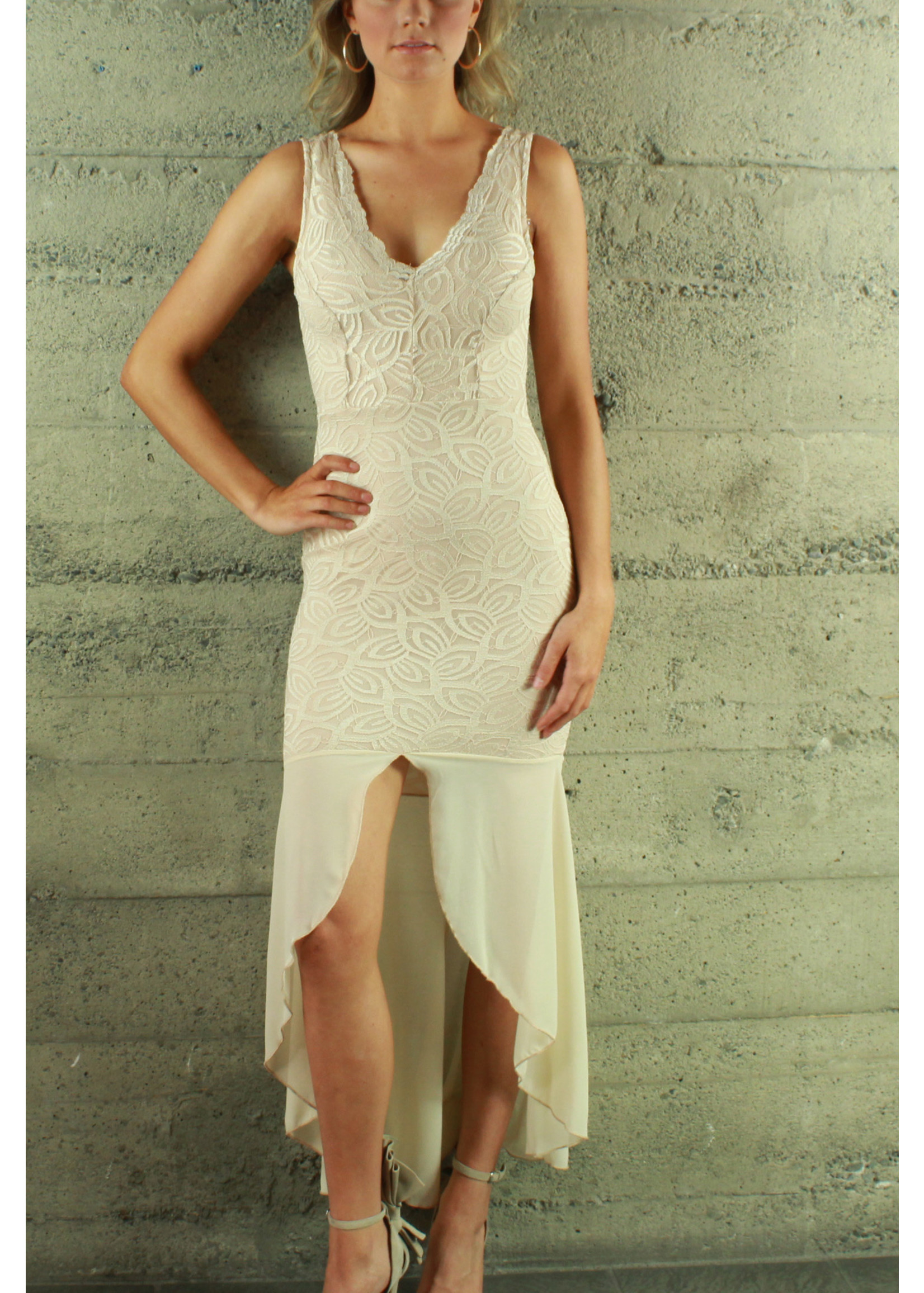 Bluebell Laura Lace Dress Champagne