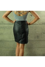 Carmin Becca Zip Up Faux Leather Skirt