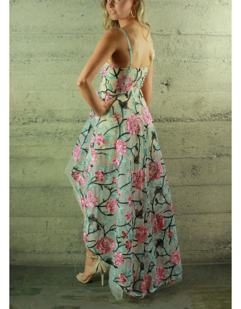 Banjul Jazmin Floral Hi-Lo Dress