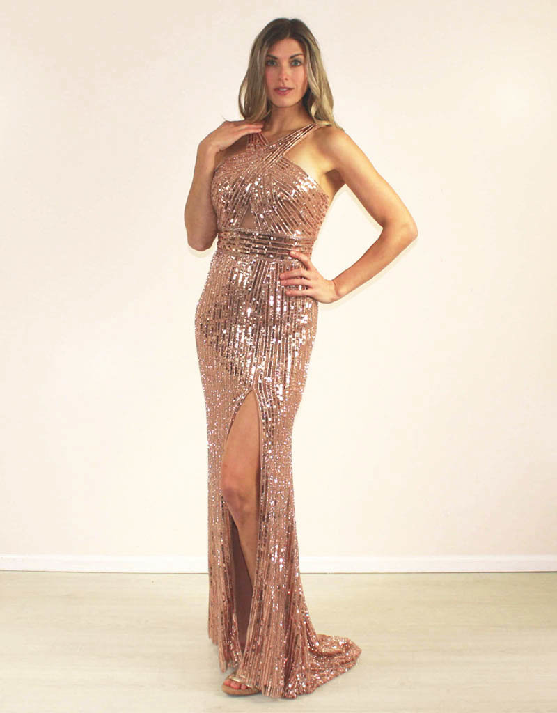 Aspeed Camylle Dress Gold