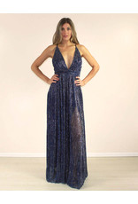 LUXXEL Carissa Dress Blue