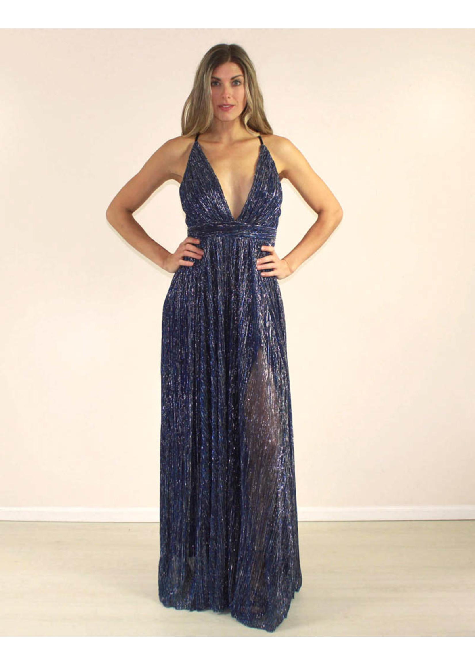 LUXXEL Carissa Dress Blue