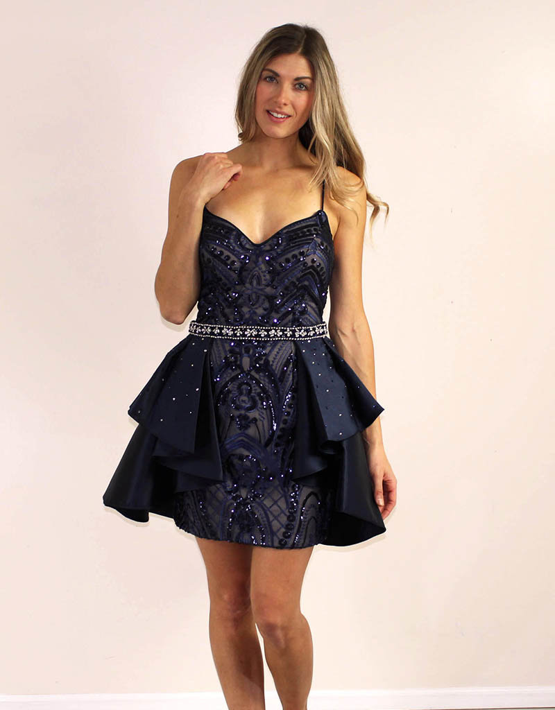 Aspeed Geneva Dress Navy