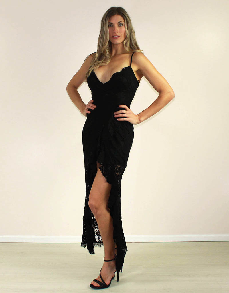 LUXXEL Karlee Dress Black