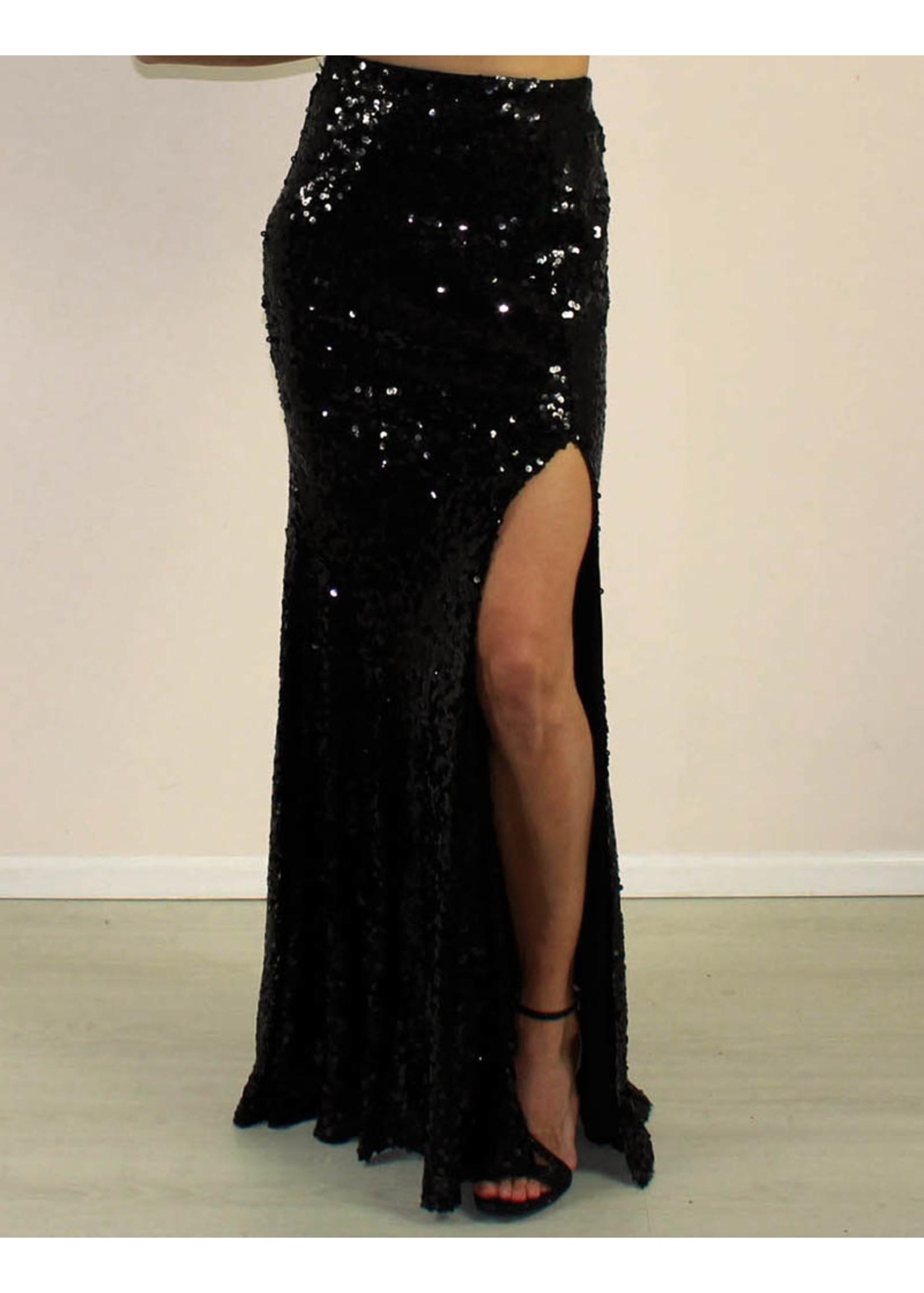 Maniju Macie Sequin Skirt Black