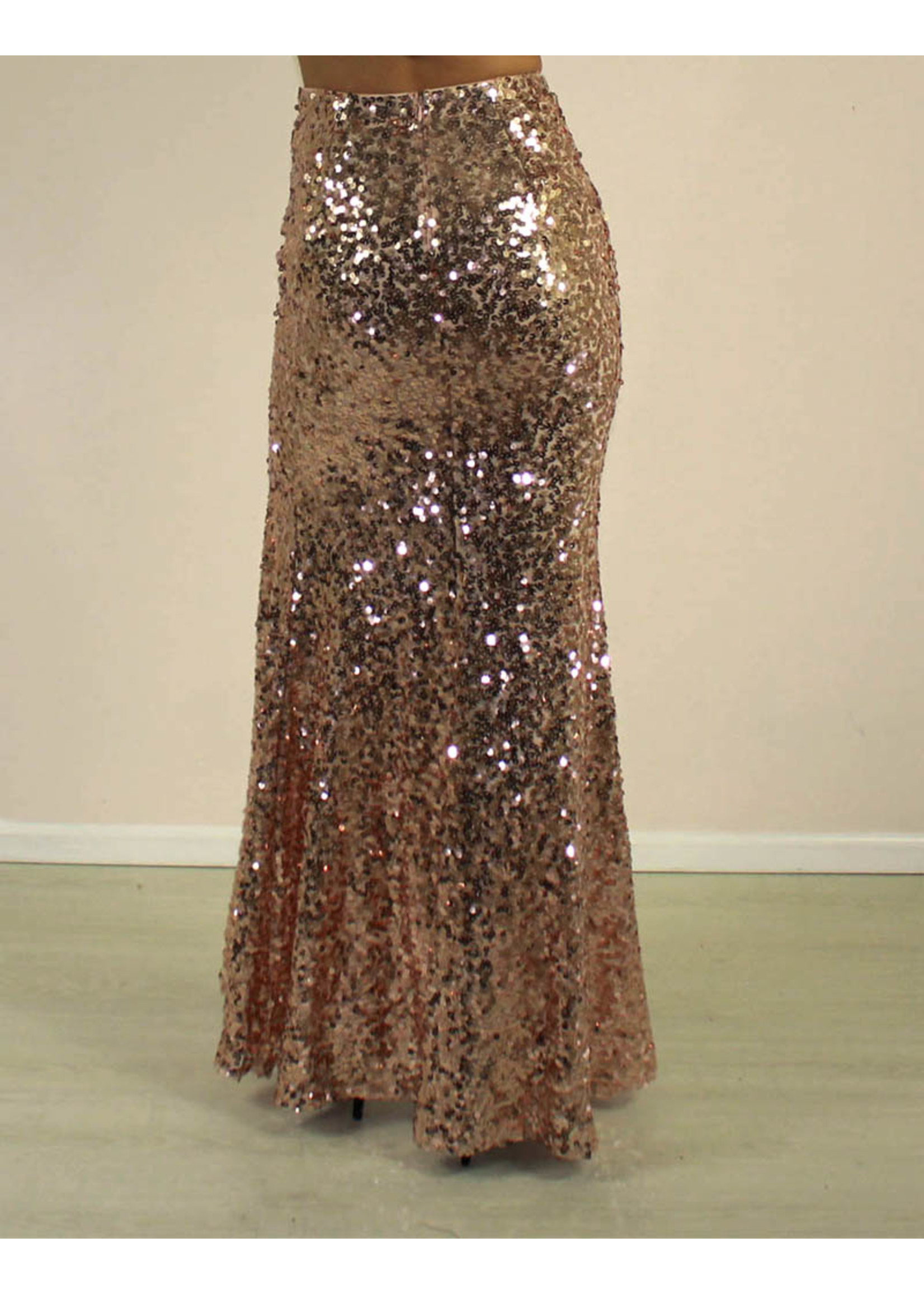 Maniju Macie Sequin Skirt Rose Gold