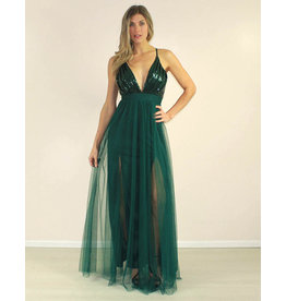 LUXXEL Raquel Dress Green