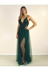 LUXXEL Raquel Dress Green