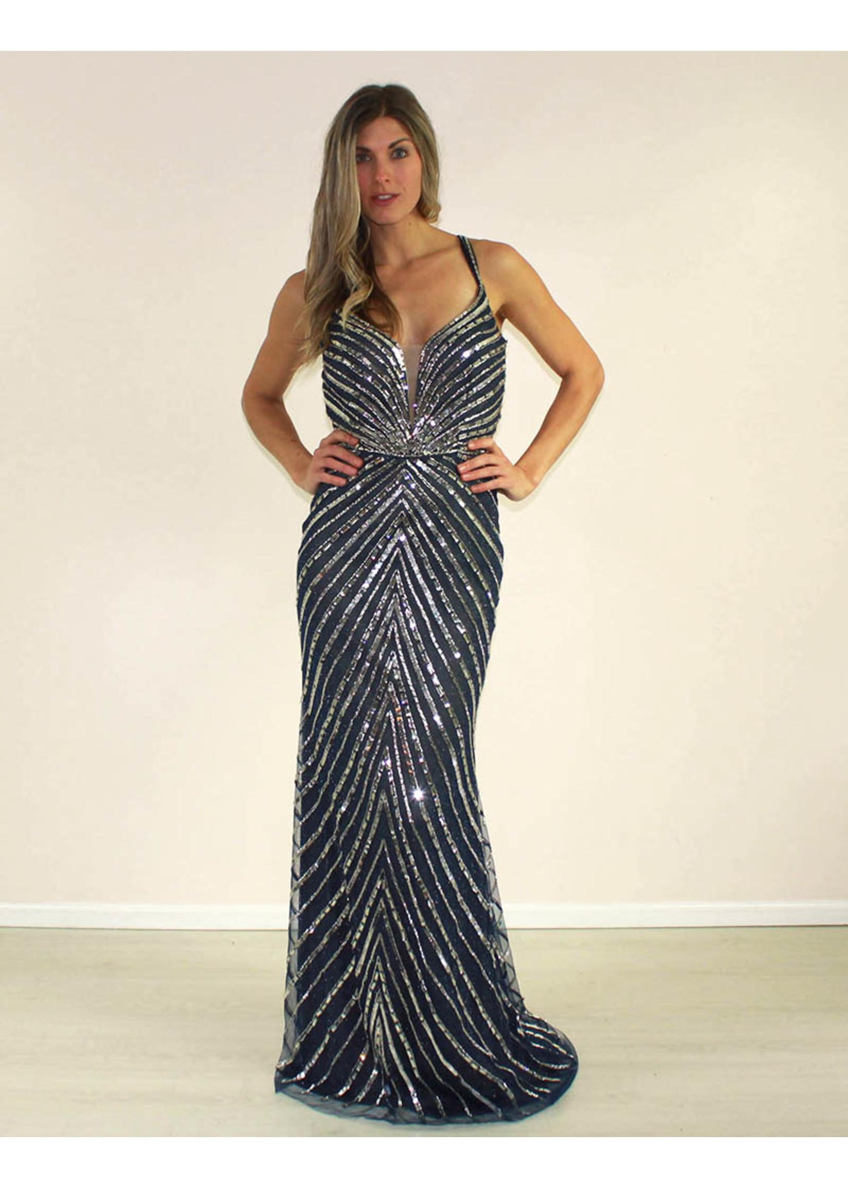 Aspeed Rebeka Dress Navy