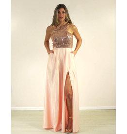 Maniju Sapphire Dress Rose Gold