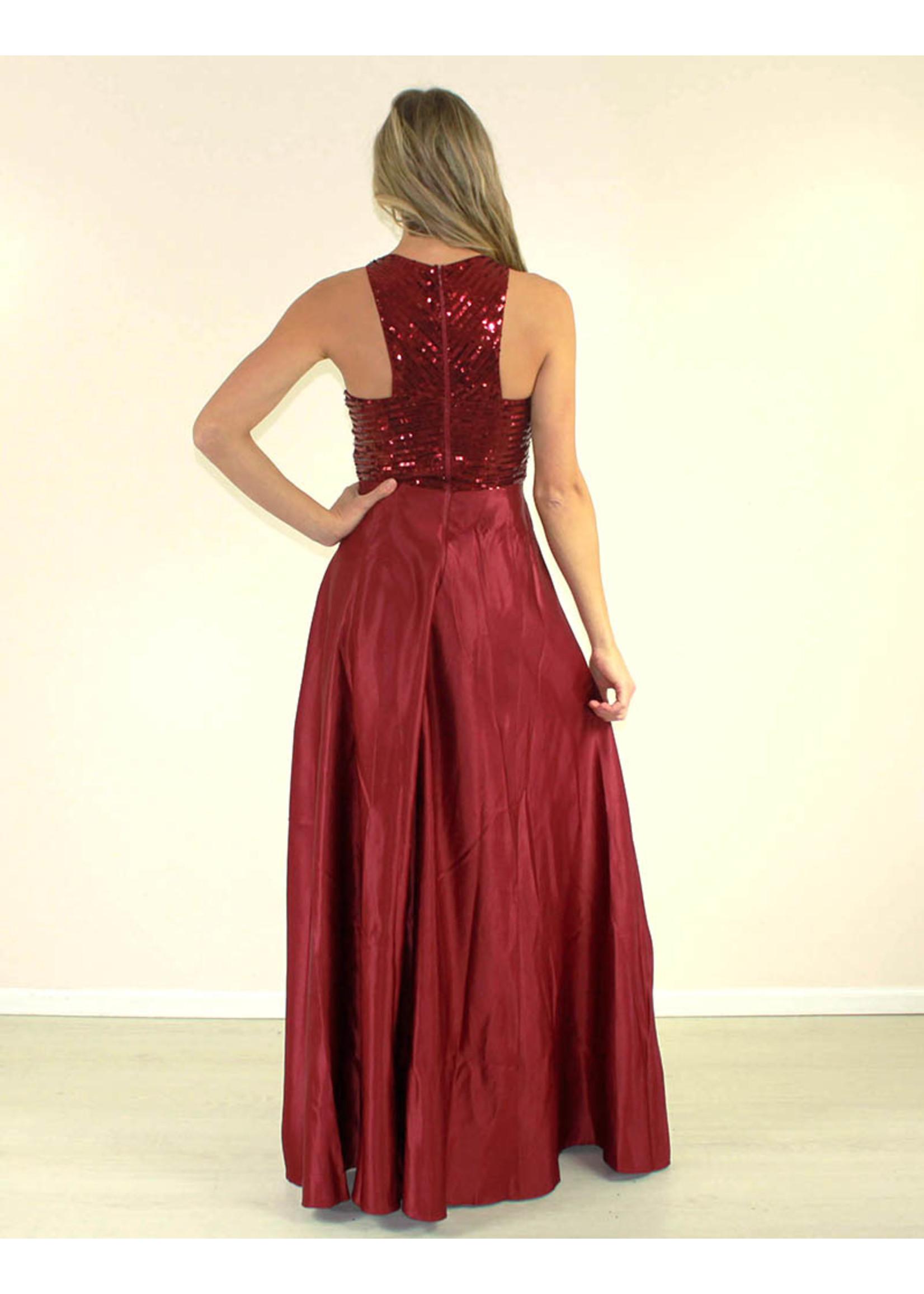 Maniju Sapphire Dress Burgundy