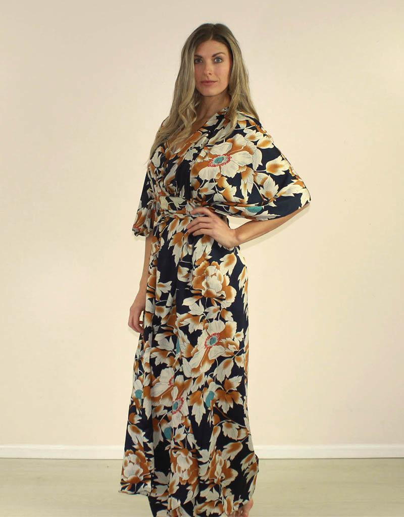Aakaa Stilla Dress Navy