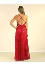 LUXXEL Valeria Dress Red