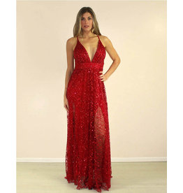 LUXXEL Valeria Dress Red